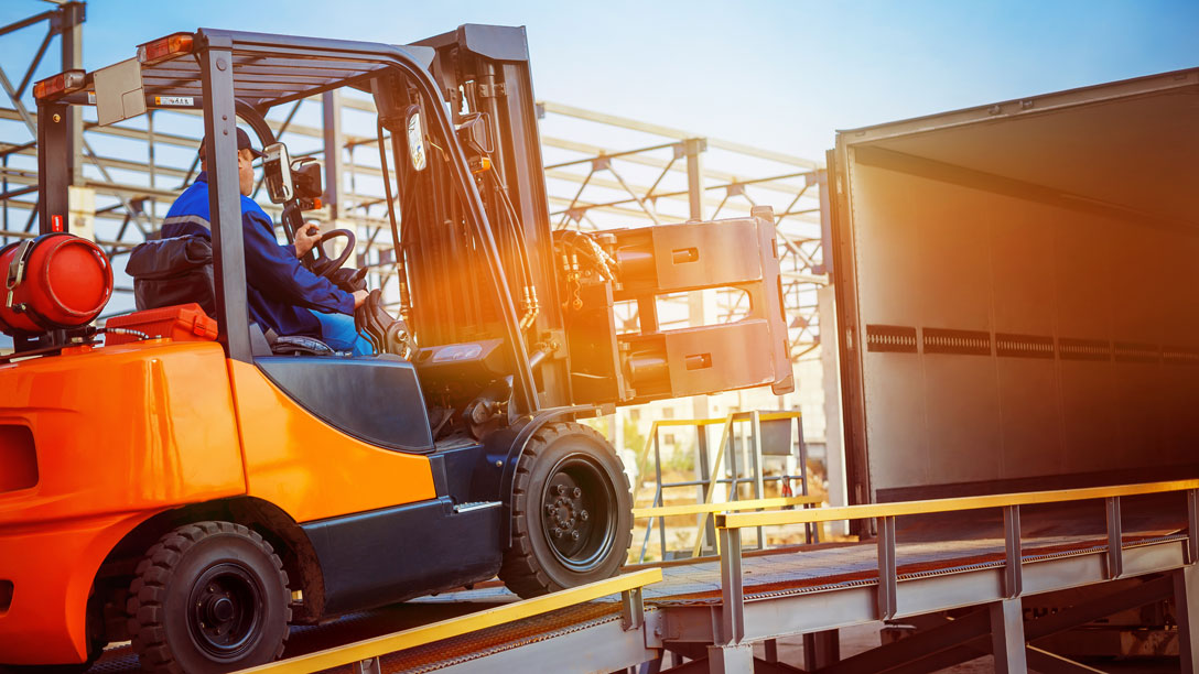 Taking basic care of freight handling machinery